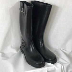 Black rubber rain / winter boots